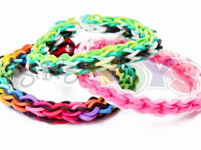 How to Make a Back 2 Front Rainbow Loom Bracelet - EASY