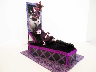 How to make a Elissabat doll bed Tutorial. Monster High