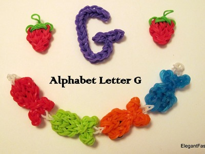 How to Make Alphabet Letteer G Charm on RAinbow Loom