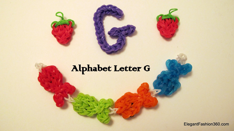 How to Make Alphabet Letteer G Charm on RAinbow Loom