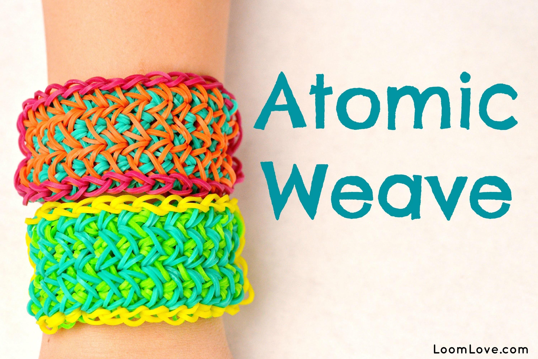 How to Make the Atomic Weave Rainbow Loom Bracelet