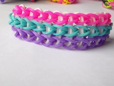 How to make the rainbow loom: Tripple.Como Hacer Pulseras De Goma