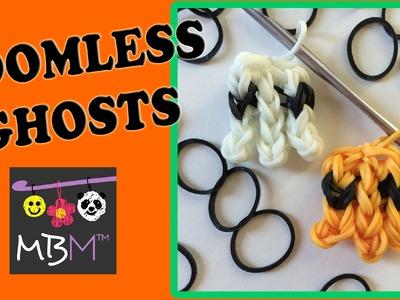Loomless Ghost Charm Made Using Rainbow Loom Bands
