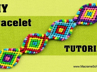 Macramé Indian Bracelet Tutorial ◀▶◀▶◀▶◀▶