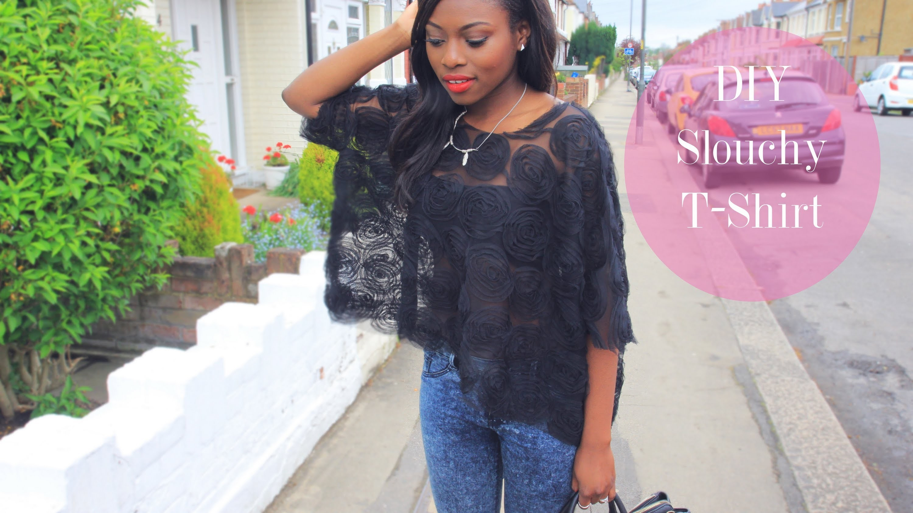 MY FIRST FASHION DIY| A SLOUCHY T SHIRT
