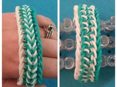 "My new Reversible ""Fishy Gills"" Rainbow Loom Bracelet.How To Tutorial"