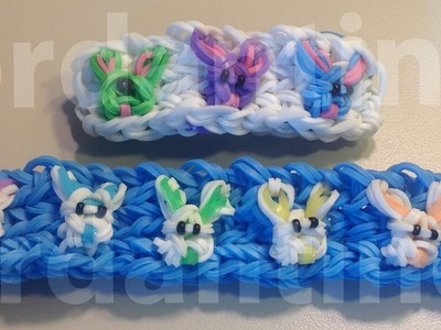 New Easter Bunny Rabbit Bracelet - Spring Holiday - Rainbow Loom, Crazy Loom, Bandaloom