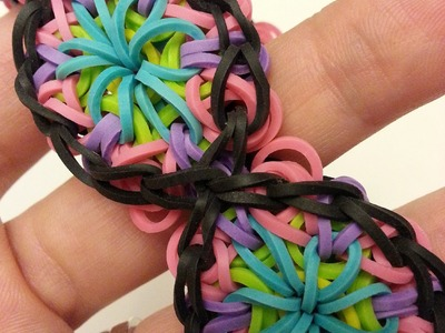(OLD) Kaleidoscope Bracelet Tutorial by feelinspiffy (Rainbow Loom)