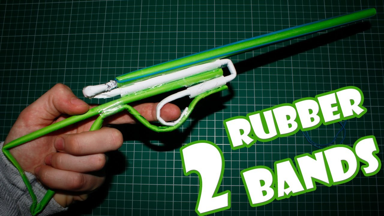 Paper Gun that Shoots 2 Rubber Bands - (Paper Shotgun)