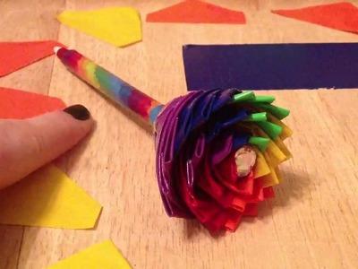 Rainbow Duct Tape Flower-Tutorial