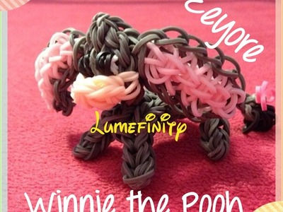Rainbow Loom bands Eeyore - Winnie the Pooh figure by Lumefinity - How to