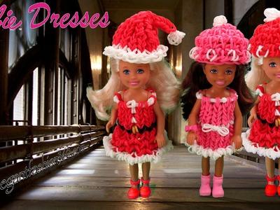 Rainbow Loom Barbie Dress.Christmas.Holiday Wearable - How to Loom Bands Tutorial