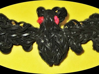 Rainbow Loom Halloween Charms: Bat (How to make a Loom bands halloween bat charm)