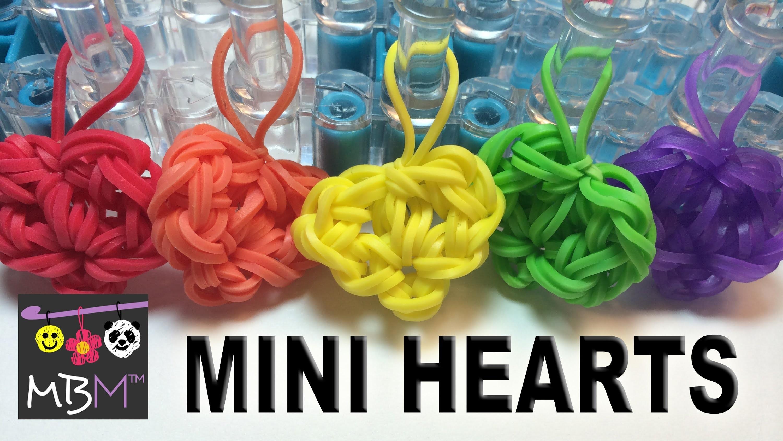 Rainbow Loom Mini Heart - Very Easy!