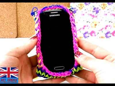 Rainbow loom phone pouch - Loom Bands Phone Case for Samsung S3 Mini mobile phone