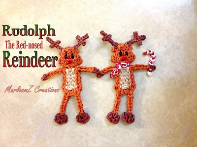Rainbow Loom Rudolph The Red Nosed Reindeer Tutorial - Christmas