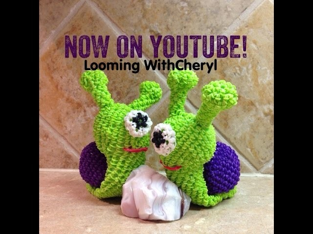 Rainbow Loom SNAIL 3d Loomigurumi - Looming WithCheryl