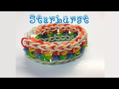 Starburst Loom Band Bracelet - Made without the Rainbow Loom