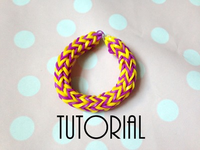 Tutorial - podwójny fishtail - rainbow loom