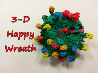 3-D Happy Wreath Tutorial by feelinspiffy (Rainbow Loom)