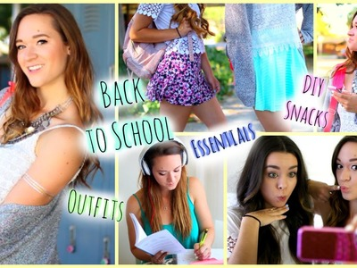 Back to School ♡ Essentials, DIY Snacks. Supplies + Outfit Ideas