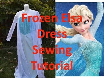 Disney Frozen Elsa Dress Sewing Tutorial McCalls M7000
