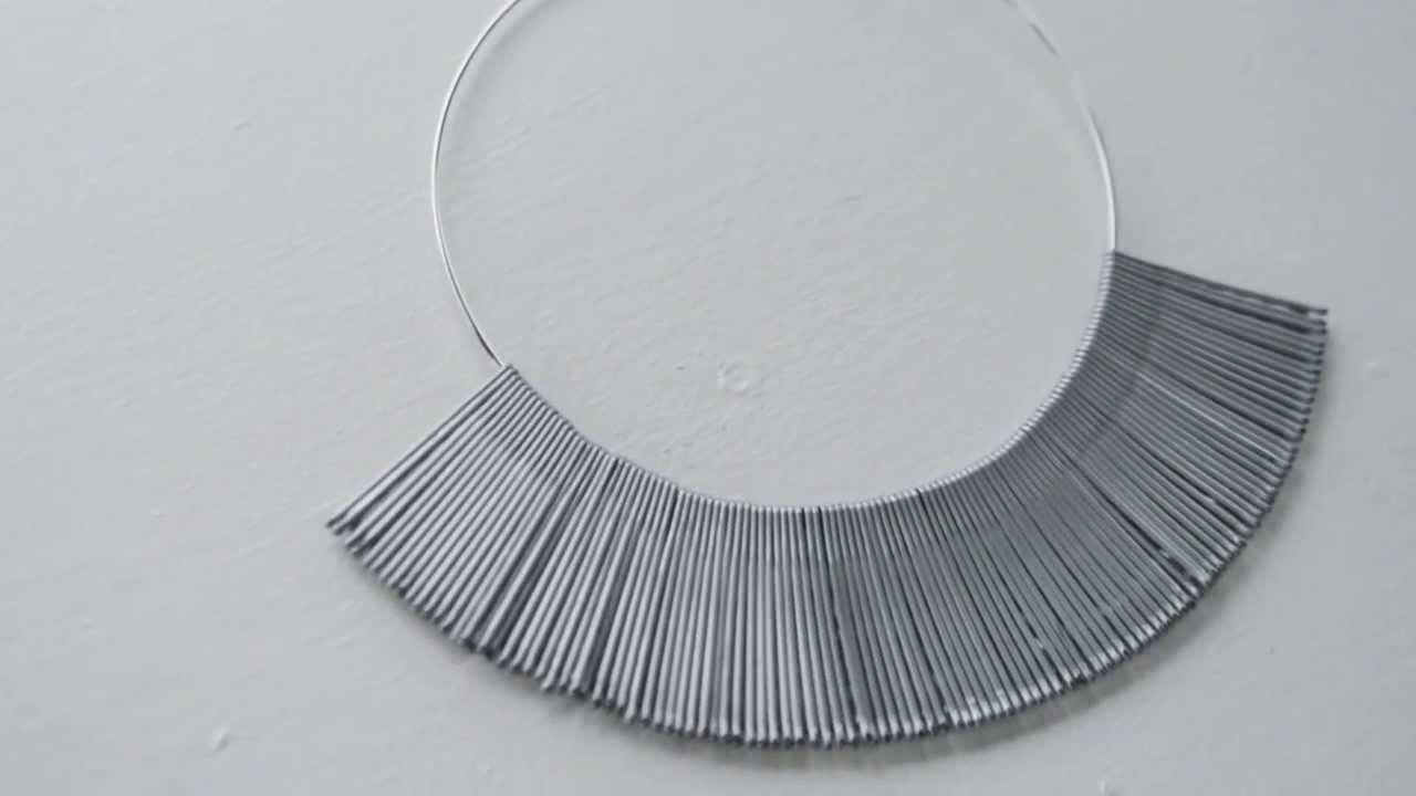 DIY bobby pin necklace. 3 ways