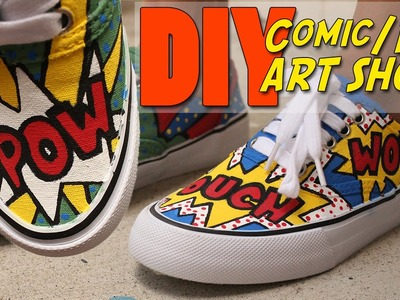 DIY Comic.Pop Art Shoes | vouchalize