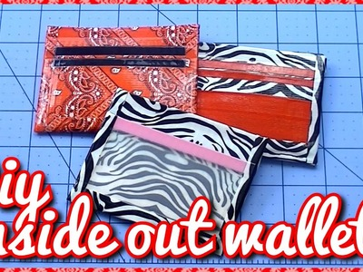 DIY:Duct Tape Inside Out Wallet! (With Ziplock Coin Pouch)