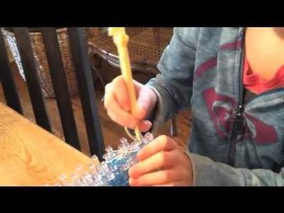 Easy Rainbow Loom Snowflake Charm