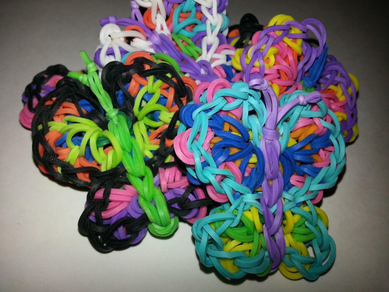 Flying Kaleidoscope (Butterfly) Charm Tutorial by feelinspiffy (Rainbow Loom)
