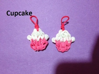 How to Make a Cupcake Charm on the Rainbow Loom - Original Design