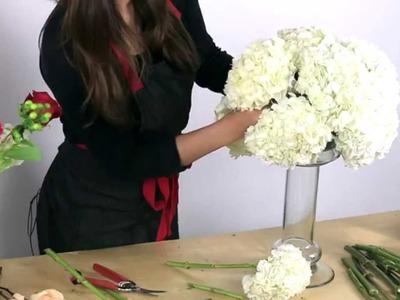 How to make a hydrangea centerpiece