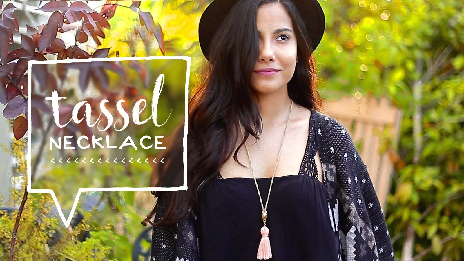 How to Make Your Own Jewelry. DIY Tassel Necklace Tutorial