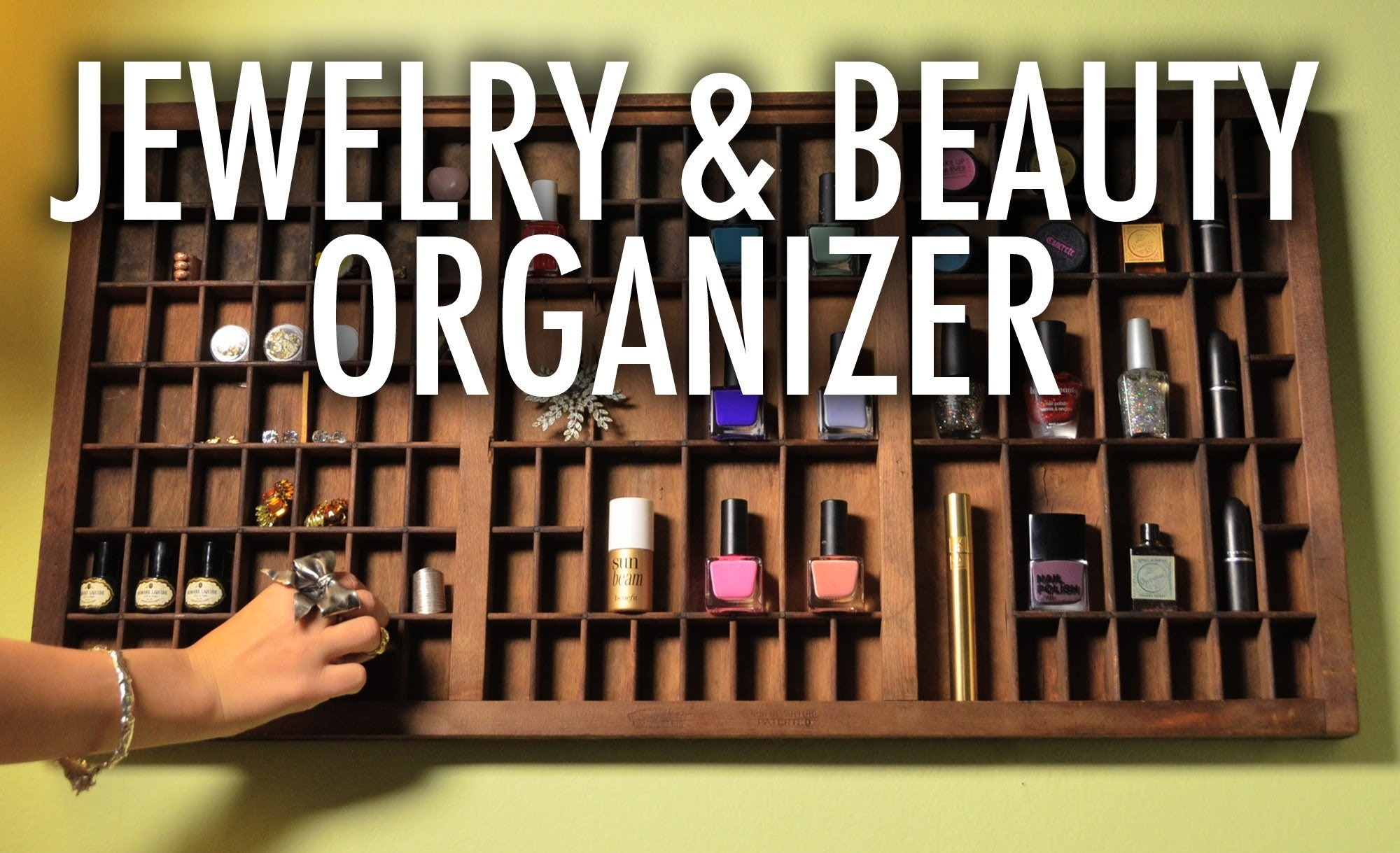 Jewelry and Nail Polish Letterpress Organizer - Mr. Kate Quickie