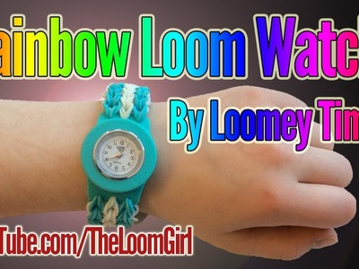 Loomey Time the Rainbow Loom Watch - Including  Bloopers!