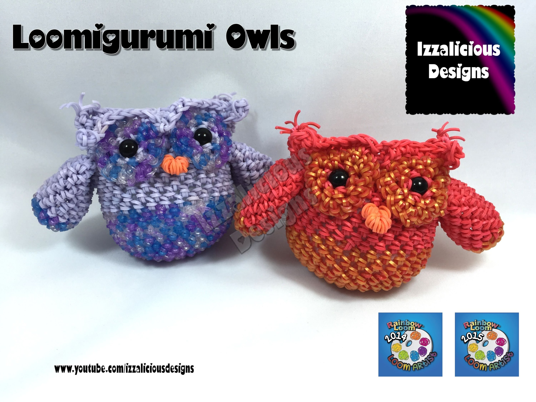 Loomigurumi 3D Owl | Bird | Amigurumi crochet with Rainbow Loom Bands