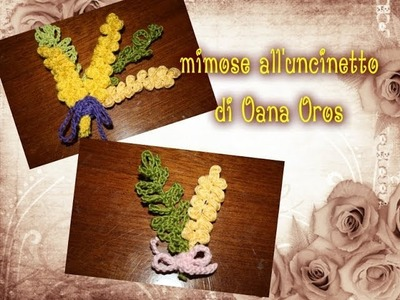 Mimose all'uncinetto