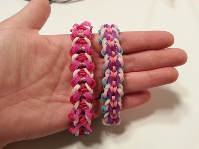 "My New Reversible ""Wonderland"" Rainbow Loom Bracelet.How To Tutorial"