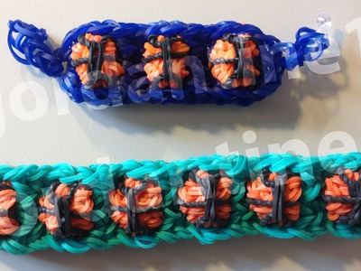 New Basketball Bracelet - Advanced Tutorial - Rainbow Loom, Bandaloom, Crazy Loom, Wonder Loom