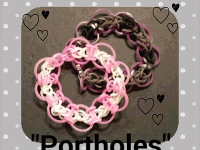 "NEW ""Portholes"" Hook Only Rainbow Loom Bracelet.Ho"