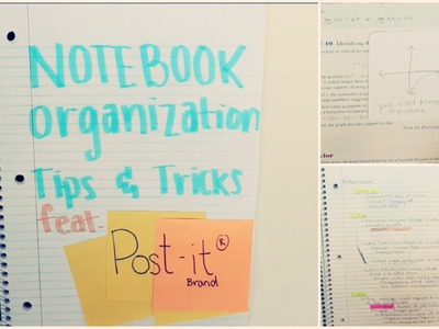 Notebook Organization Tips and Tricks! feat. Post-It Brand! | xoxosolie