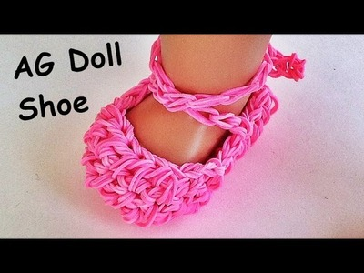 Rainbow Loom. American Girl Doll shoes. Ballet slippers Made with Loom bands