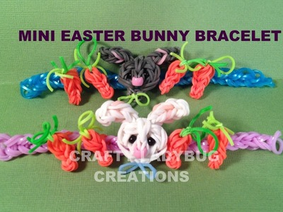 Rainbow Loom Charm MINI EASTER BUNNY BRACELET How to Make by Crafty Ladybug