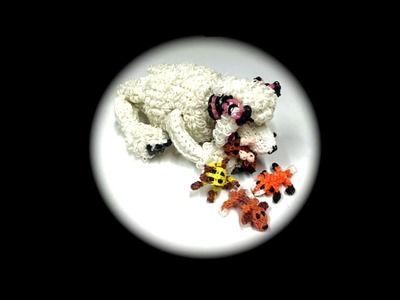 Rainbow Loom Dog Toy for Diva.Diamond Poodle (1 Loom)