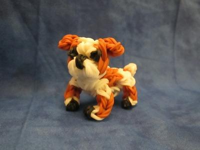 Rainbow Loom English Bulldog Charm. Dog or Puppy 3-D CAGNOLINO.CANE 3D Con Elastici