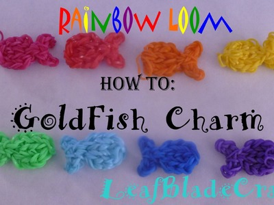 Rainbow Loom Fish Charm-How to_ONE LOOM