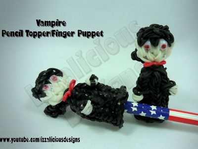 Rainbow Loom (Halloween) Vampire Pencil Topper.Finger Puppet  Charm.Action Figure - Gomitas