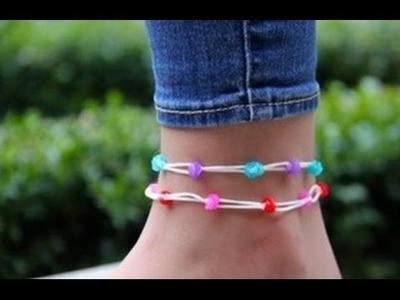Rainbow Loom - Hawaii Anklet (Original Design) - English Tutorial - Loom bands