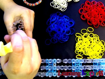 Rainbow Loom: Monster Tail Loom Inverted Fishtail Bracelet Tutorial